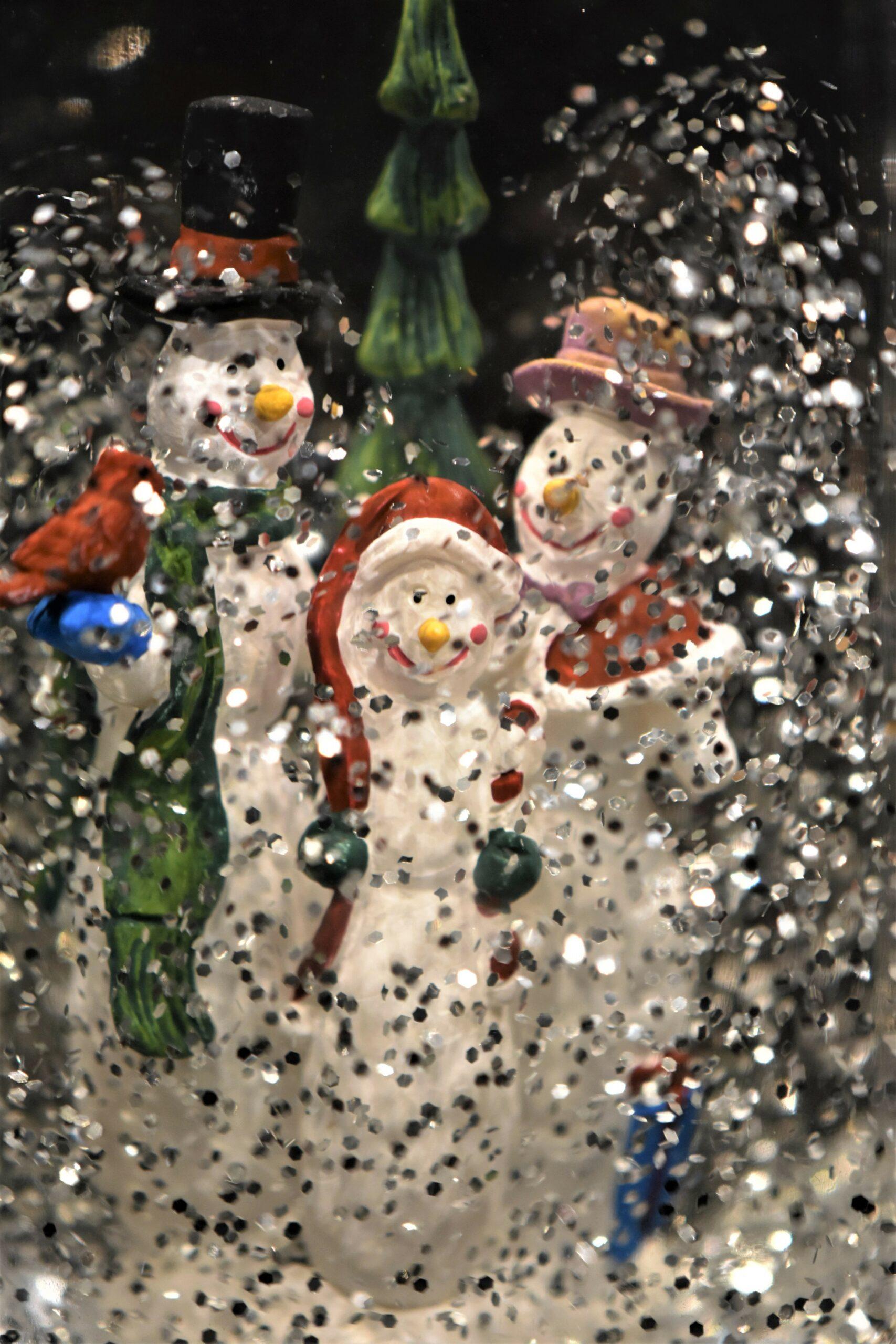 Kitsch, Schneemänner Schneeflocken
