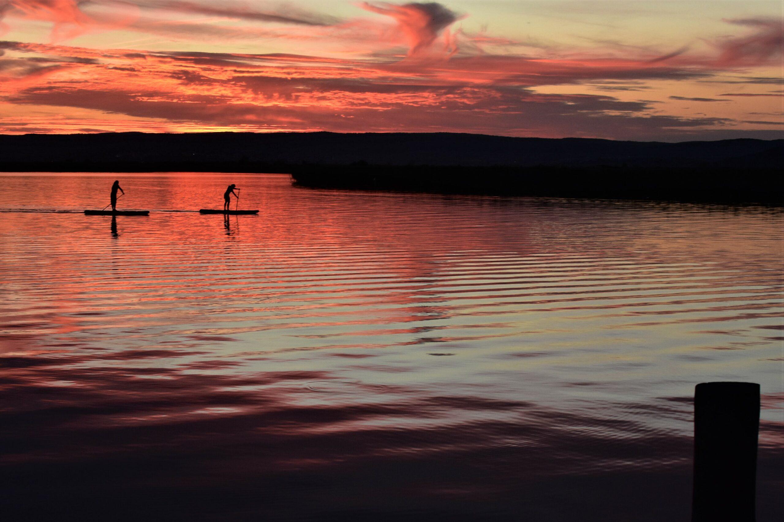 Sunset, Sonnenuntergang, See, rot