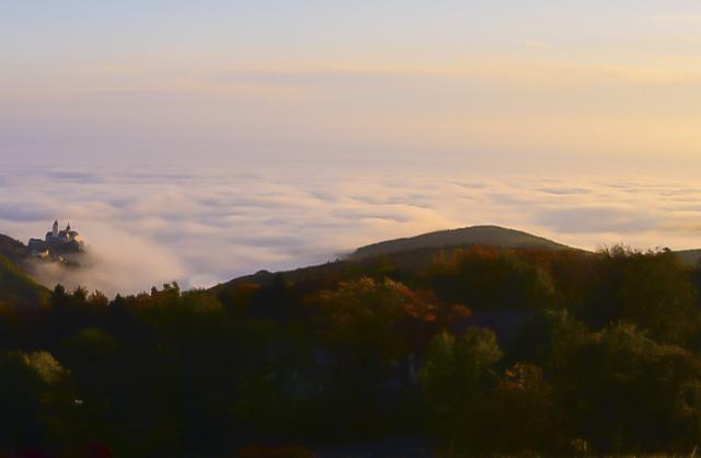 Licht Sonnenuntergang Nebel